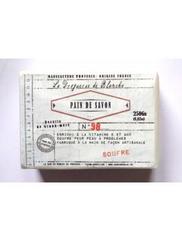 Pain de savon au soufre peaux boutons 250g