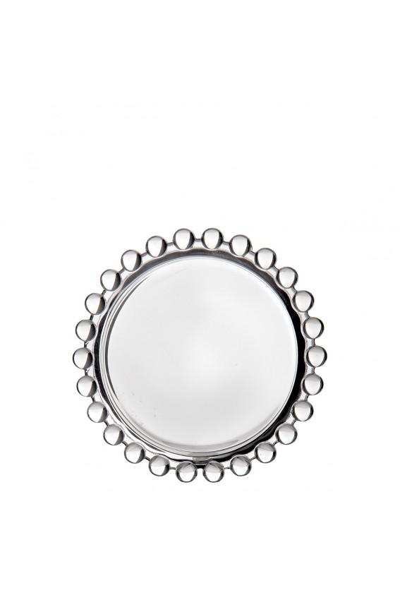 Porte savon verre 9cm perlé