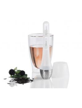 Filtre à thé avec sablier inclus blanc