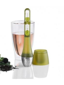 Filtre à thé avec sablier inclus vert