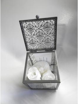 Boite verre élégante avec savons