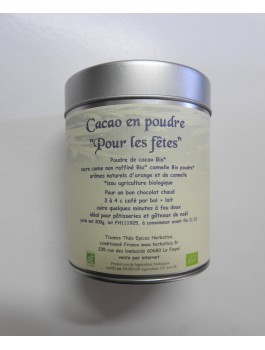Cacao de Noël poudre 200g Bio*