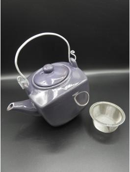 Théière porcelaine violet 600ml filtre