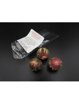 Fleurs de thé Amarante par 3