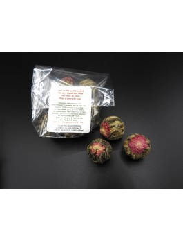 Fleurs de thé Amarante par 6