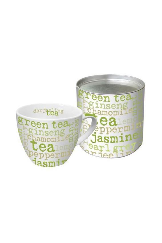 Mug Tea vert 350ml avec boite