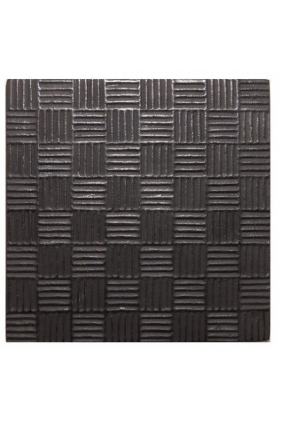 Repose Théière Fonte carré noir 14x14