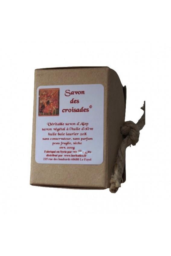 Savon des croisades ® savon Alep 200g boite