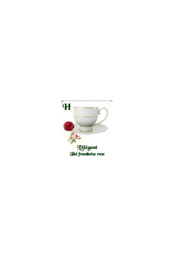L'élégant thé blanc framboise rose 70g.