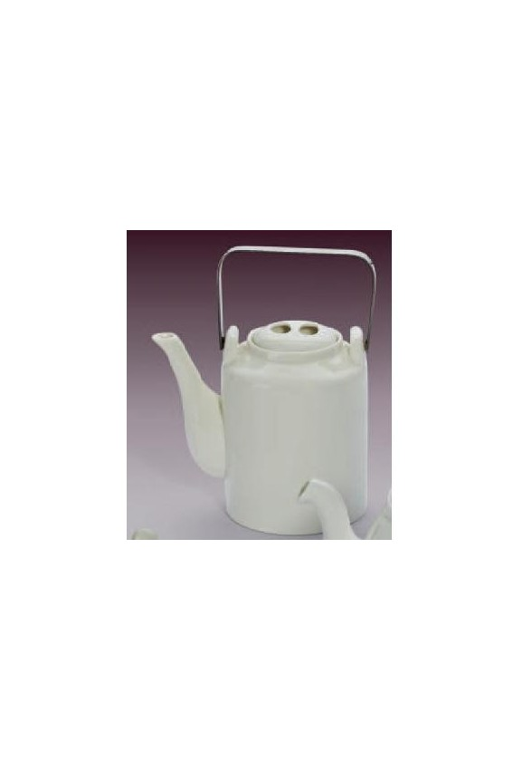 Théière blanche porcelaine 1 litre
