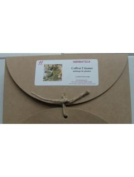 Coffret 2 tisanes Bio 80g: Marchand sable +Jardin des simples