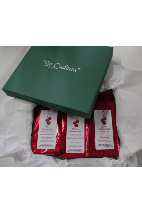 1 Coffret vert LE CADEAU thés et tisanes de Noël